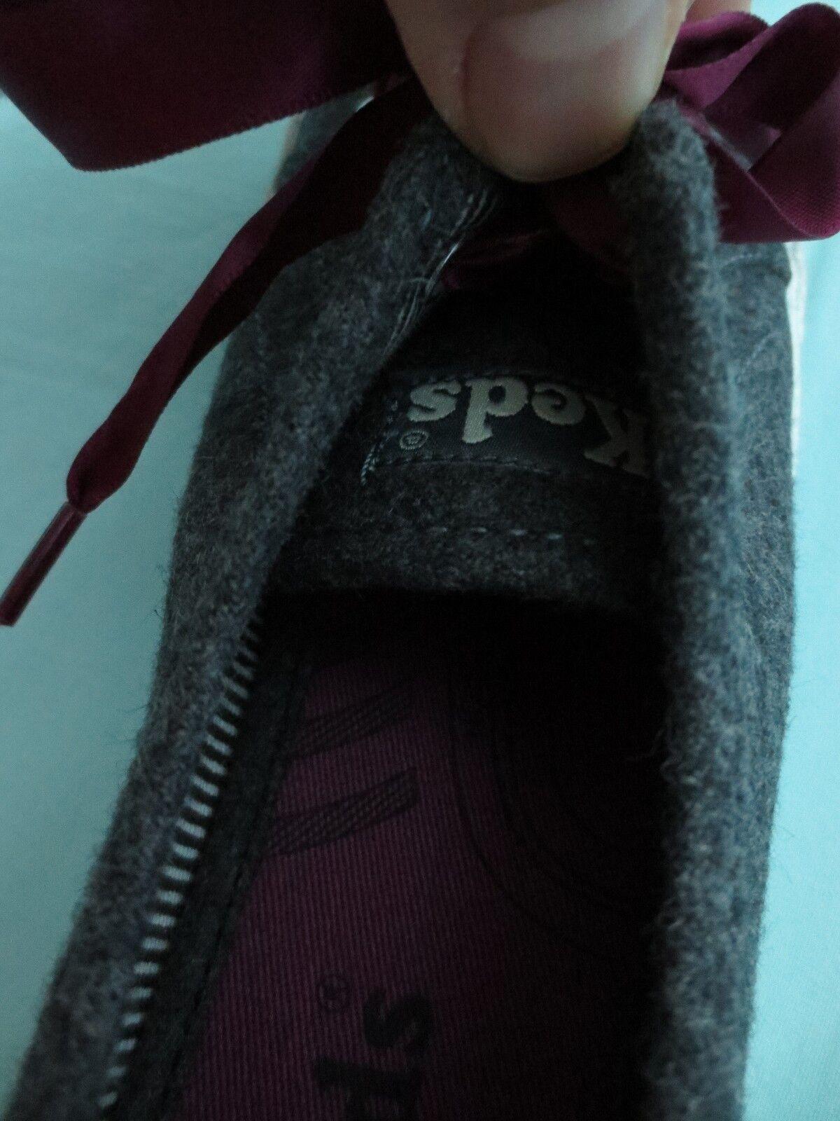 KEDS Damenschuhe Schuhe Größe 6.5 M  CELEB WOOL  CHARCOAL Gray LACE-UP SNEAKERS  WOOL NIB 7145fc