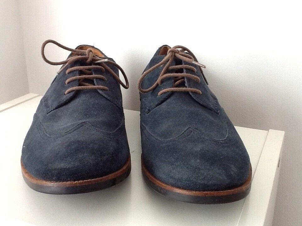 clarks mens shoes uk size 11, blue suede, lace ups,