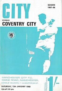Football-Programme-gt-MANCHESTER-CITY-v-COVENTRY-CITY-Jan-1968