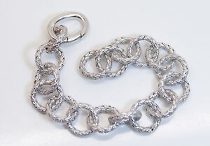 NICE-New-925-Sterling-Silver-6-5-034-Ladies-Beautifully-Woven-Link-Style-Bracelet