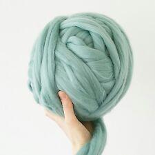 Super chunky wool teal blue green merino giant wool arm knitting,500g