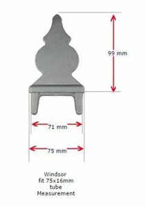 Fence Spear Top Windsor for Tube Size 75x16mm - Pack of 10 Pieces
