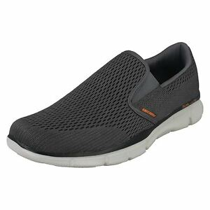 Details zu Skechers Equilizer Double Play Mens CharcoalOrange Memory Foam Shoes