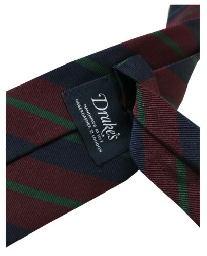 Details about  /Men/'s Tie Lined DRAKE/'S LONDON CM 8 Fantasy Striped Made IN England