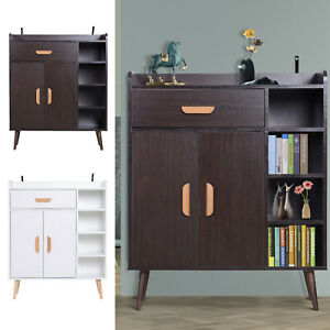 Side-Cabinet-Hallway-Storage-Unit-Console-Table-Entrance-Shelf-Cupboard-2-color