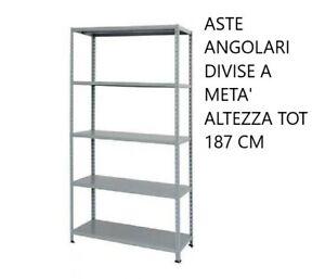 Kit Scaffale Metallo.Scaffale Metallo Kit 5 Ripiani Scaffalatura 100x40x200
