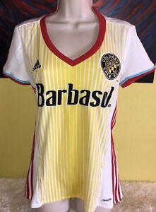 e90dd50c5bb Women s Adidas Climalite MLS Columbus Crew Soccer Jersey Size Medium ...