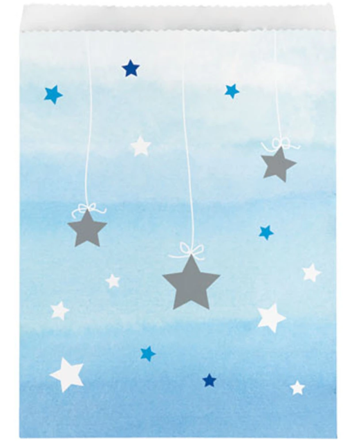 One Little Star Boy Lolly Bags Pack of 10