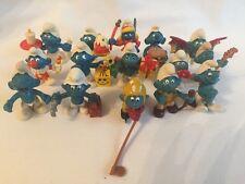 Vintage Peyo Schleich Smurfs figures x 9 And McDonalds X 6 Job Lot