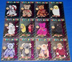 Ty S3 Magenta Birthday Complete Set of 12 Beanie Baby Cards Series III-3 BBOC
