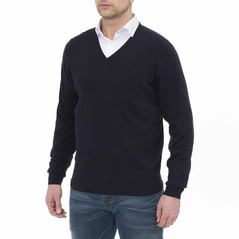 Alan Paine Rothwell Classic Cashmere Blend Vee Neck Jumper -  Invisibly Repairot