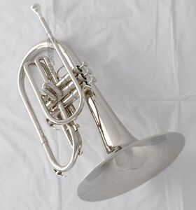 Professional-JINBAO-Silver-Nickel-Marching-Mellophone-F-Key-Horn-with-case