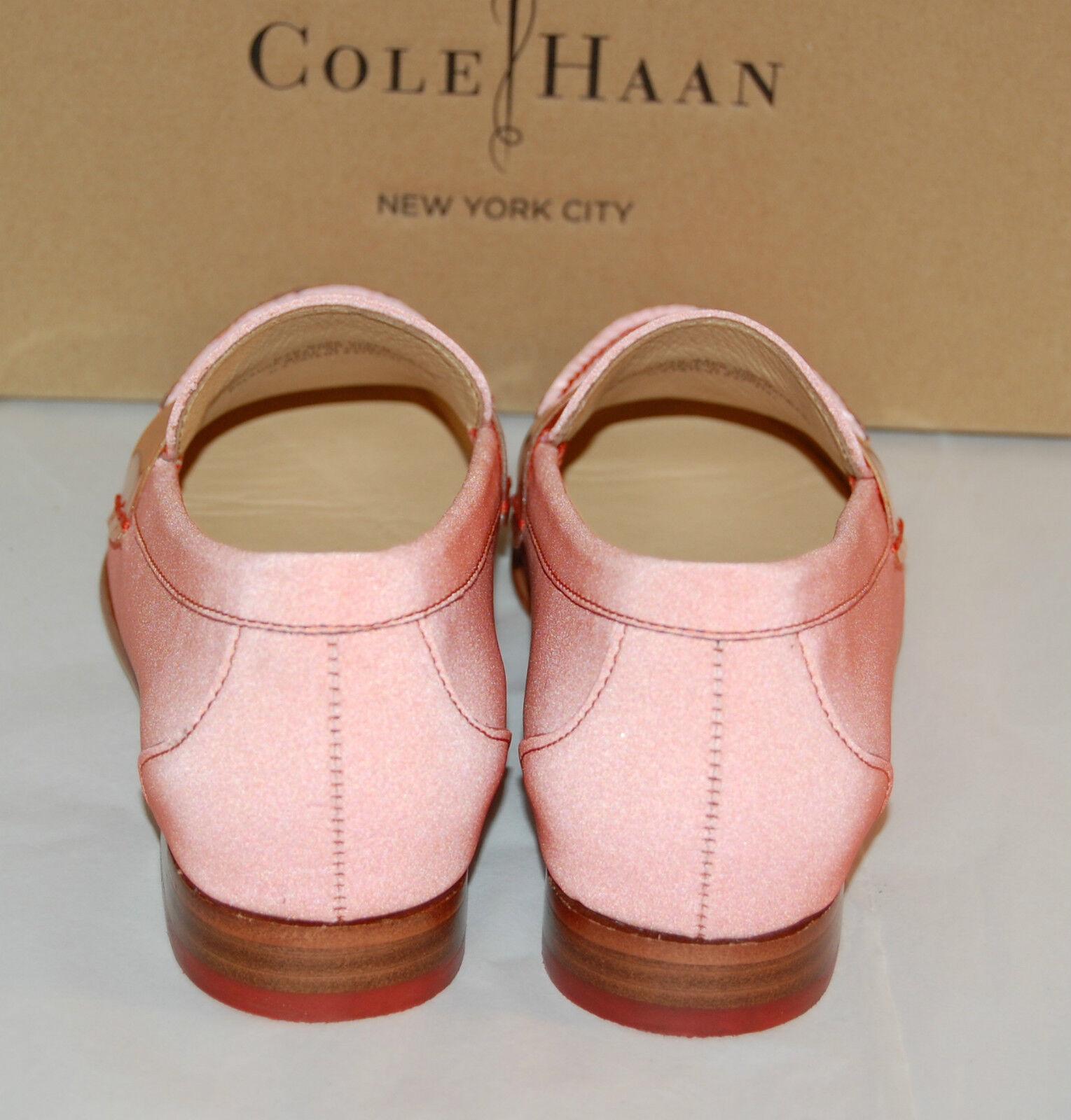 New  198 Cole Haan Haan Haan REFLECTIVE Nike Air Monroe Penny orange Pop Loafer lot 0b2307