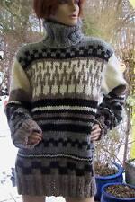 Island-Wolle-Bulky Lopi-ROLLKRAGENPULLOVER-beige-grau-natur-schwarz-SONDERPREIS