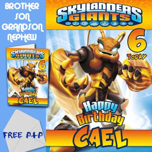 Skylanders Giants Personalised Birthday Card Son Brother Nephew