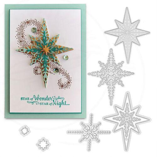 Star Snowflake Metal Cutting Dies Stencil Scrapbooking Card Embossing Crafts