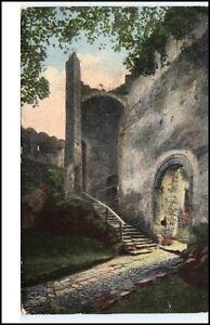 1919-Riesengebirge-Schlesien-Ruine-Kynast-Eingang-Burg-Chojnik-Polen-alte-AK