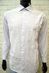 CALVIN-KLEIN-Uomo-Camicia-a-Righe-Camicetta-Taglia-XL-Maglia-Shirt-Man-Hemd
