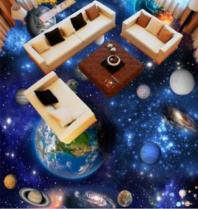 3D tierra planetas Piso impresión de parojo de papel pintado mural 433 5D AJ Wallpaper Reino Unido Limón