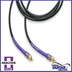 Analysis-Plus-Sub-Oval-Interconnect-Cable-w-RCA-Connectors-Length-2-5-Meters