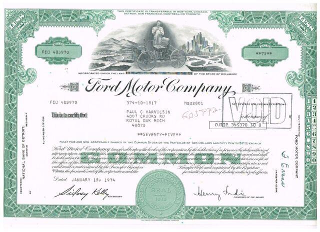 Ford Motor Company, 1974