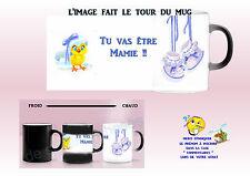 mug tasse magique magik mug noir - blanc futur mamie garçon personnalisé réf 05