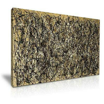Jackson Pollock Abstract Modern Canvas Wall Art Home Office Deco 9 sizes