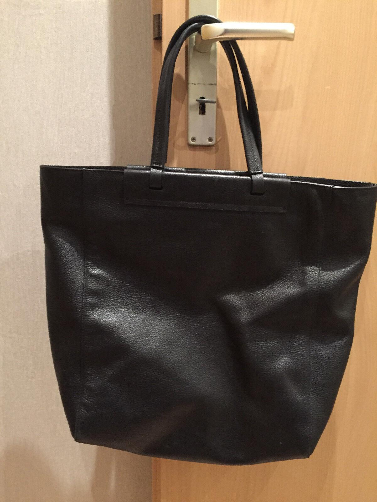 POLLINI Shopper Schwarz Damen Damen Damen Tasche Bag Sac Leder Leather Handtasche   | Modisch  | Lebhaft  | Primäre Qualität  c366db