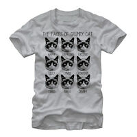 Grumpy Cat Many Faces Mens Graphic T Shirt