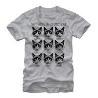 Grumpy Cat Many Faces Mens Graphic T Shirt