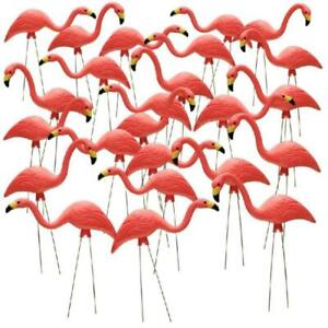 Pink-Flamingo-Outdoor-Ornament-Yard-Lawn-Garden-26-In-Retro-Decor-Art-24-Pack