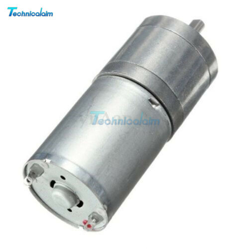 DC 12V 60RPM Powerful High Torque Gear Box Motor Electric Micro Speed Reduction