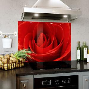 Splashback En Verre Cuisine Cuisinière Macro Close Up Fleur Rose Toute Taille 0484-afficher Le Titre D'origine Les Produits Sont Disponibles Sans Restriction