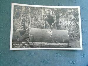 1937 BEATING THE VILLAGE DRUM - LAGOS NIGERIA - AFRICA RP POSTCARD