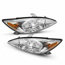 Pair Headlight For 2002 2004 Toyota Camry Le Xle Headlamp Assembly 2003 02 03 04