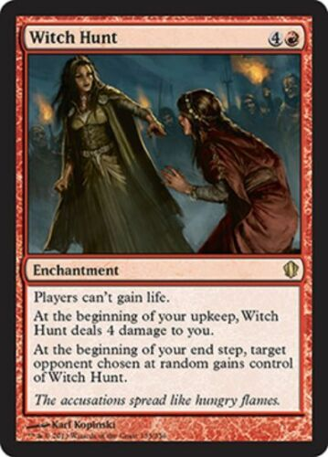 Enchantment Rare WITCH HUNT NM mtg Commander 2013 Red