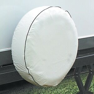 Camco 45358 Vinyl RV Spare Tire Cover 24 inches  , off-white