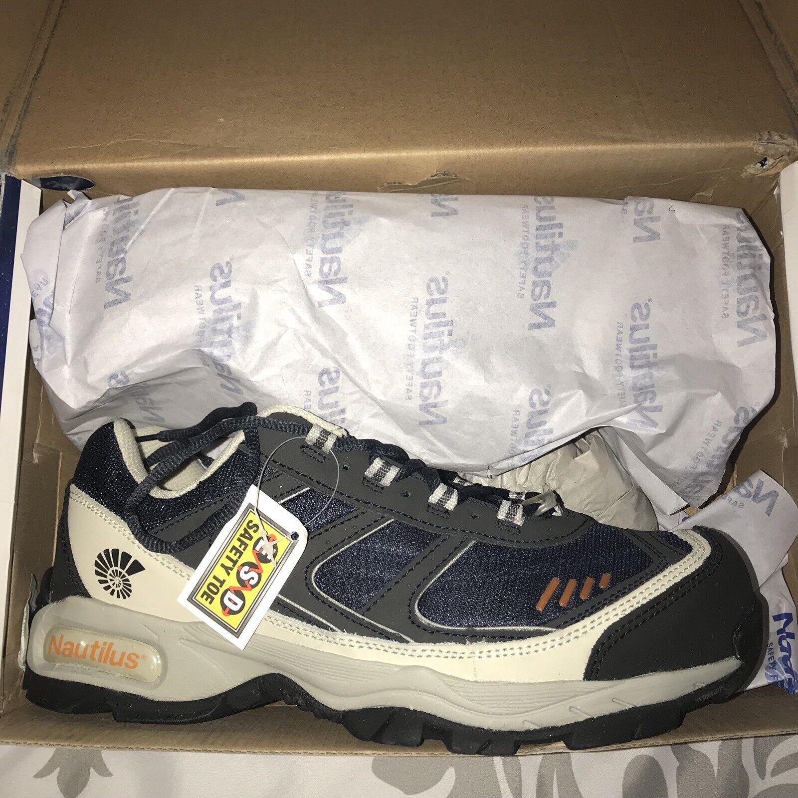 Nautilus Mens bluee ESD Athletic Work shoes Size 11 - Steel Toe N1326