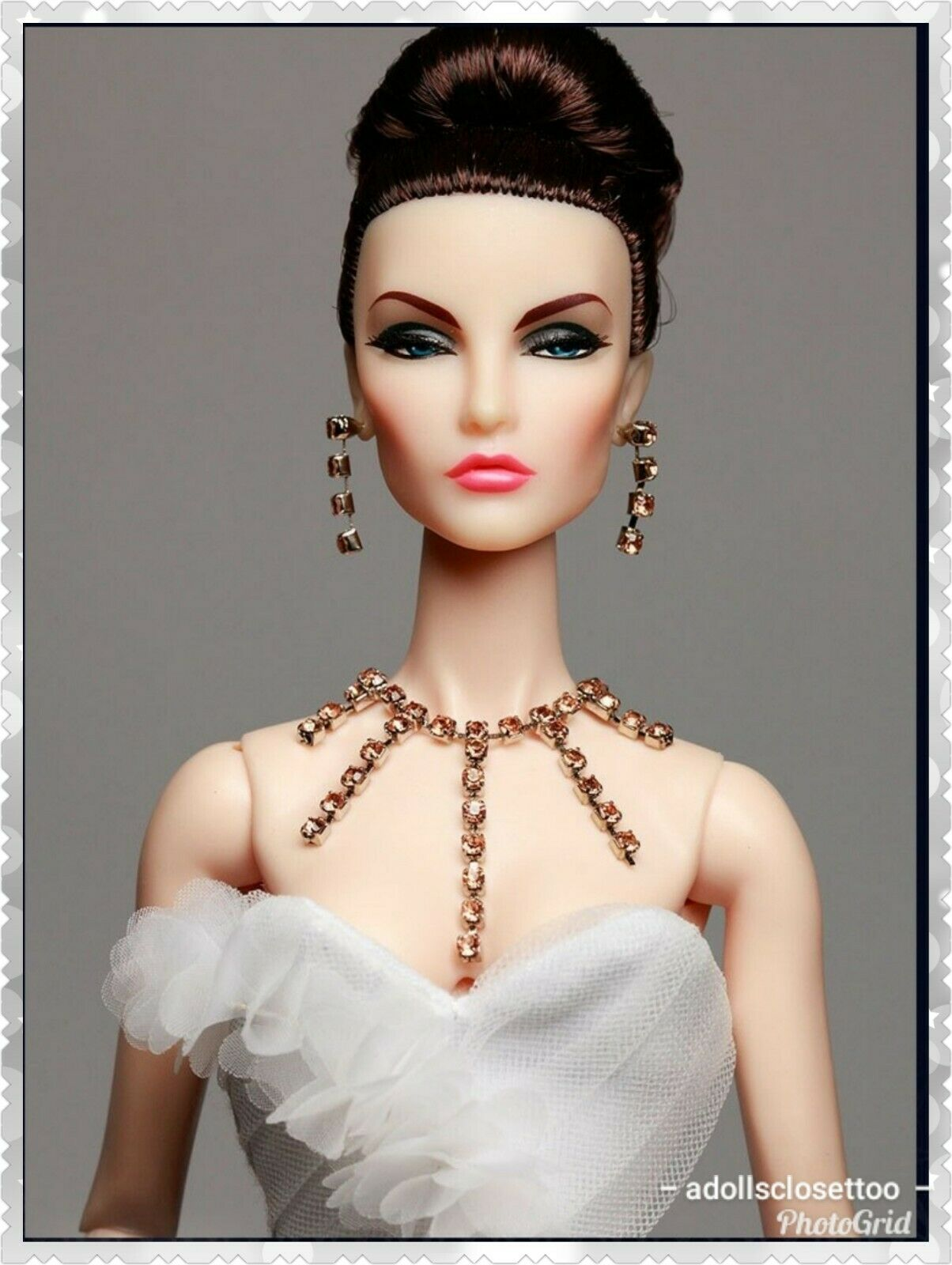 10 Lote de conjunto de Collar Con Aretes Para Fashion Royalty, cara Nu, Muñecas Barbie
