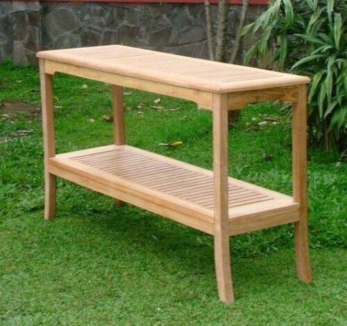 """59/"""" CONSOLE TABLE A GRD TEAKWOOD GARDEN OUTDOOR DINING FURNITURE POOL PATIO GIVA"""