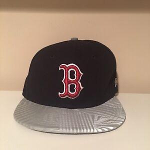 db397d5191131 Boston Red Sox Reflective Brim New Era Fitted Hat MLB Baseball Size ...