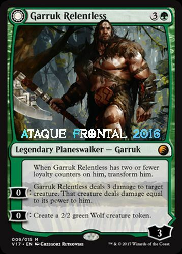 Mtg garruk relentless-foil-Garruk relentless Headstrap transform English magic