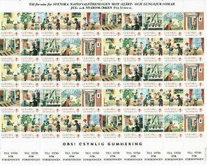 s26901) SWEDEN 1988/89 MNH** Tubercolosis Christmas Sheet God Helg cinderella