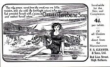 Advertising. Cleaver's Terebene Soap, Holborn. One Little Maiden Washed Ashore.