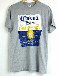 NEW-CORONA-EXTRA-GREY-T-SHIRT-GENUINE-APPAREL-SIZE-LARGE