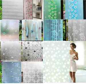 Image Is Loading Waterproof PVC Privacy Frosted House Bedroom Bathroom  Window