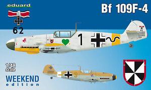 Eduard-Plastic-Kits-84146-1-48-Bf-109F-4-Weekend-Edition-New