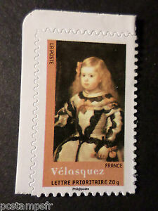 FRANCE-2008-timbre-4141-AUTOADHESIF-159-TABLEAU-VELASQUEZ-neuf-PAINTING-MNH