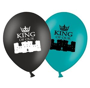 Fathers-Day-King-of-Our-Castle-12-034-Printed-Latex-Assorted-Balloons-Pack-of-8