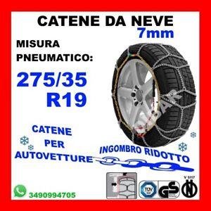 CATENE DA NEVE PER AUTO OMOLOGATE 9 MM MISURA PNEUMATICO 255//35 R19